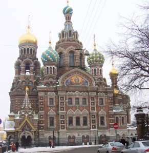 Church of Our Savior on the Spilled Blood, St. Petersburg, Russia.