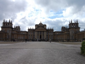 Blenheim Palace taken from the Great Court.