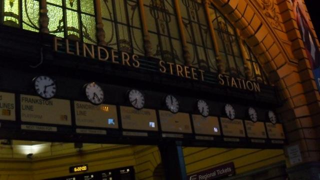 Flinders Street Station, Melbourne, Victoria, Australia.